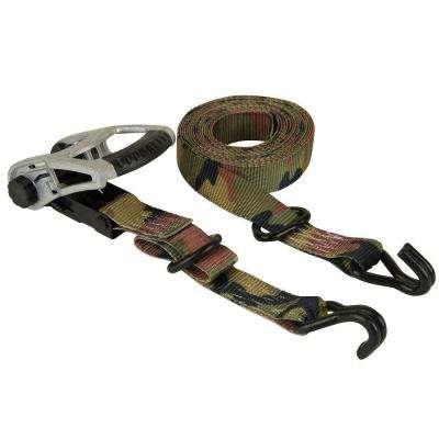 1.25 in. x 16 ft. Woodland Camo Ratchet Tie Down (2-Pack)