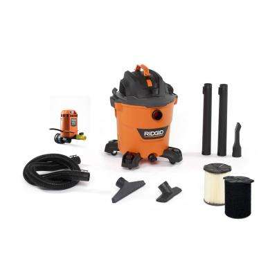 12 Gal. 5.0-Peak HP NXT Wet/Dry Shop Vacuum with Filter, Hose, Accessories, Pump Accessory and Wet Application Filter