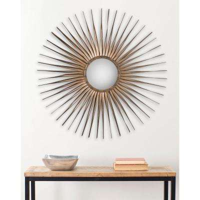 Shanira 33.5 in. x 33.5 in. Iron and Glass Framed Mirror