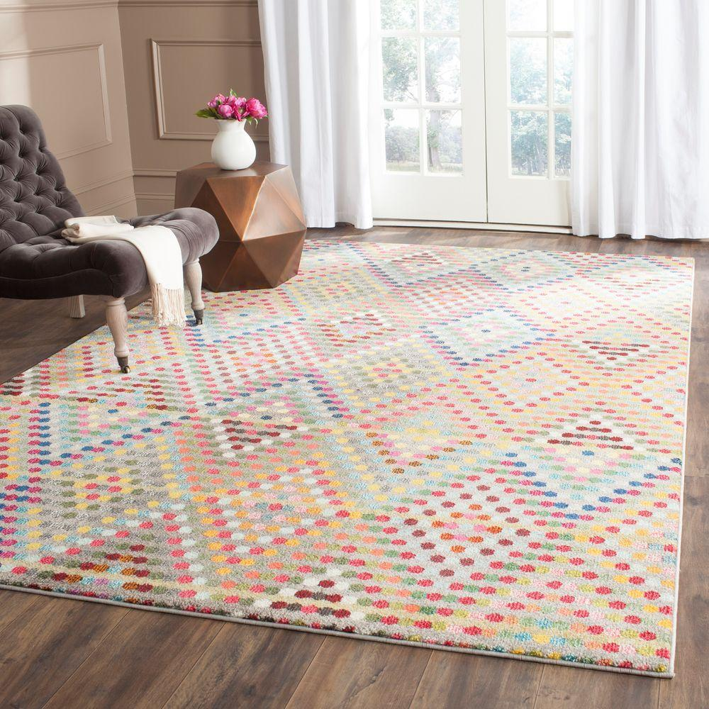 Monaco Multi/Beige 4 ft. x 5 ft. 7 in. Area Rug