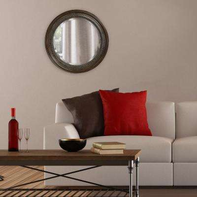 26 in. x 26 in. Round Framed Mirror