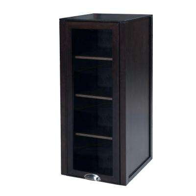 Woodbridge 18 in. W x 42 in. H x 18-1/8 in. D Single Door Bathroom Linen Storage Hutch in Chocolate Birch
