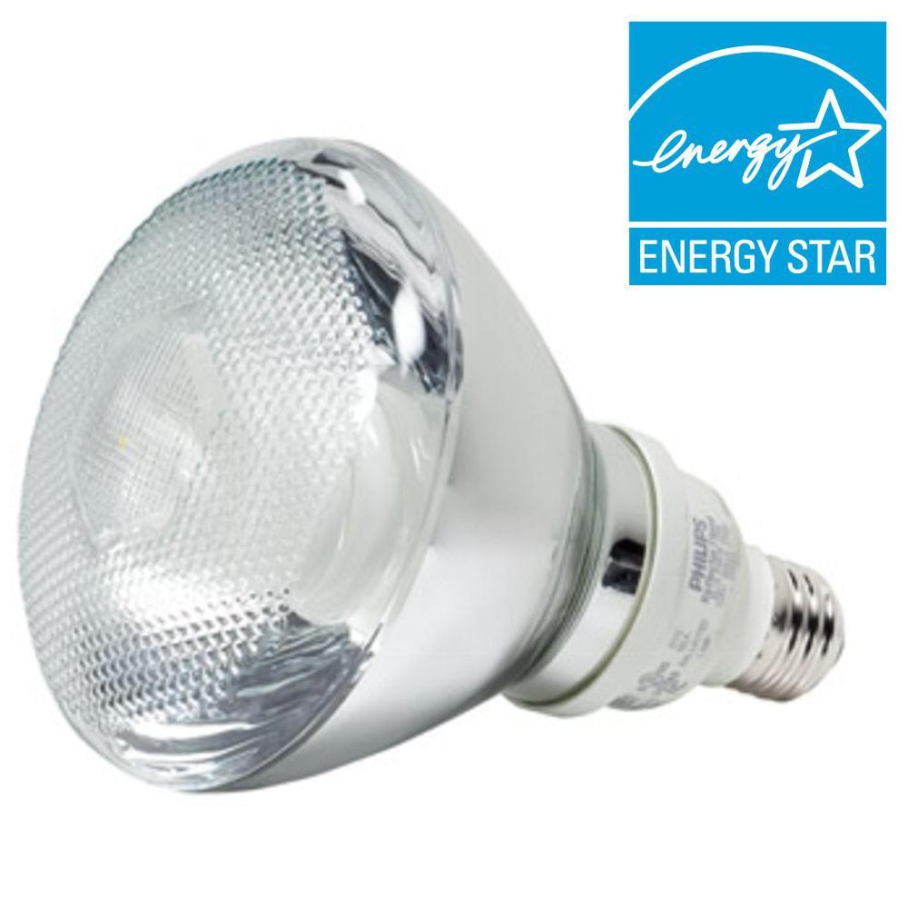 93W Equivalent Soft White (2700K) PAR38 Reflector CFL Light Bulb (E*)