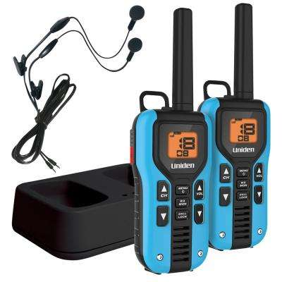 40-Mile GMRS/FRS Radio w/121 Privacy Codes Weather Alert Headsets