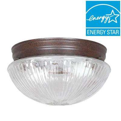 Warder 2-Light Oil Rubbed Bronze Flush Mount