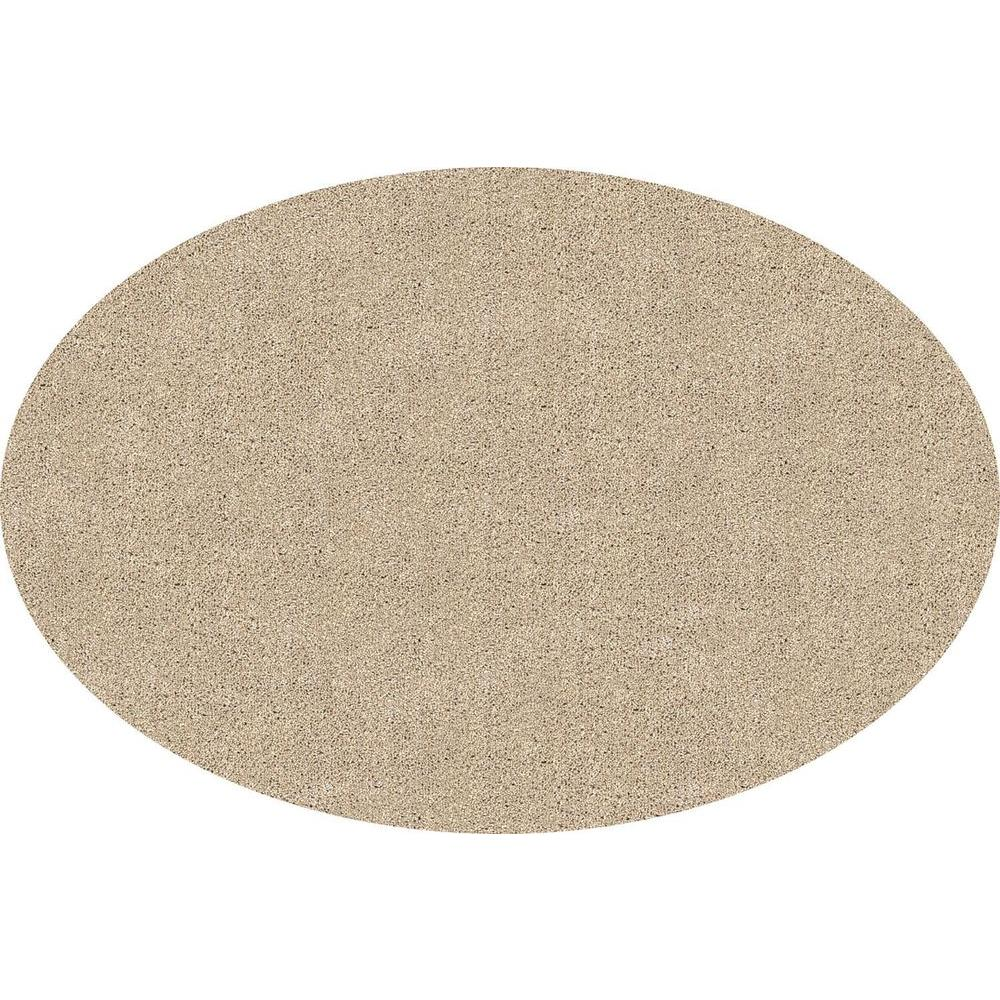 DirtStopper Brown and White 30 in. x 46 in. Oval Absorbent