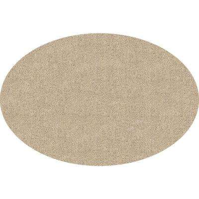 DirtStopper Brown and White 30 in. x 46 in. Oval Absorbent Mat