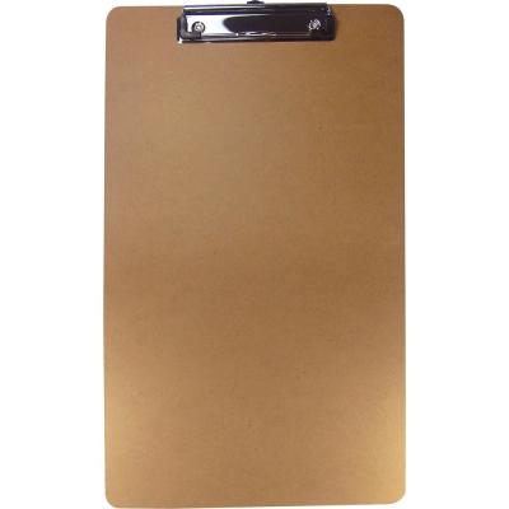 Legal-Size Clipboard 8.50 in. x 14 in. Hardboard in Brown