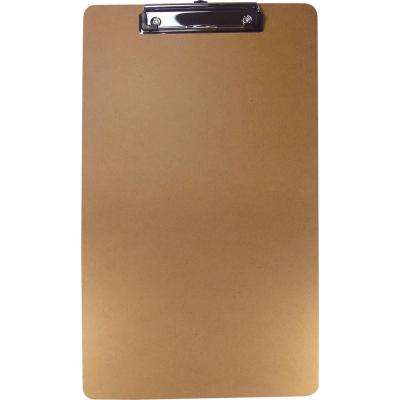 Legal-Size Clipboard 8.50 in. x 14 in. Hardboard in Brown
