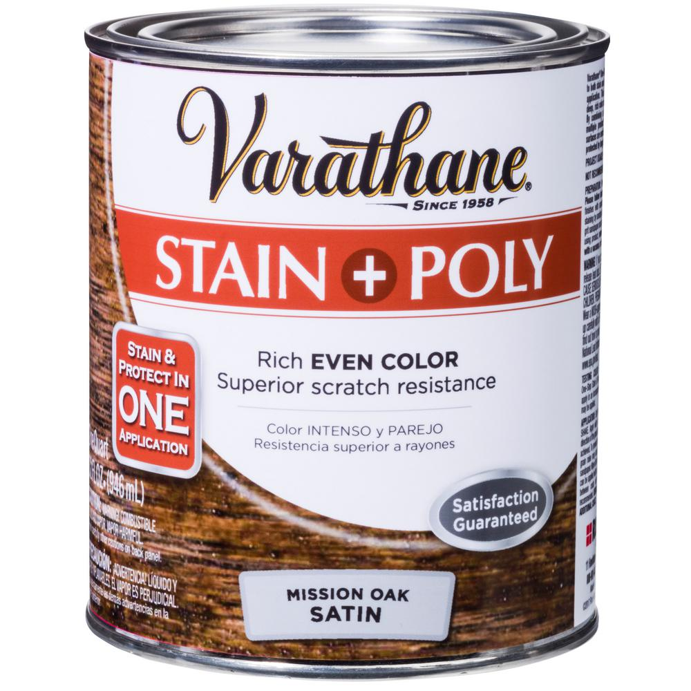 Varathane 1 qt. Mission Oak Satin Oil-Based Interior Stain and Polyurethane (2-Pack)