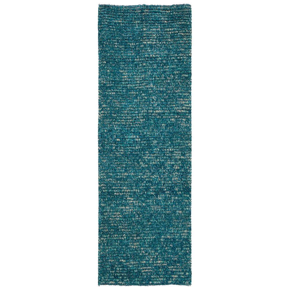 Nourison Fantasia Turquoise 2 Ft 3 In X 8 Ft Rug Runner
