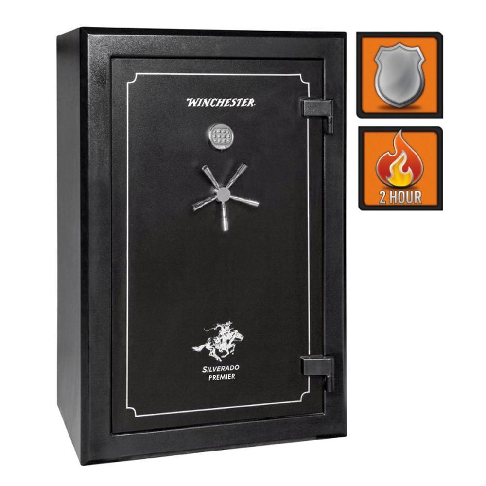 Winchester Safes Silverado Premier 38 51-Gun Black Gloss Fire-Safe Electronic Lock