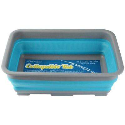2.6 Gal. Blue Collapsible Tub