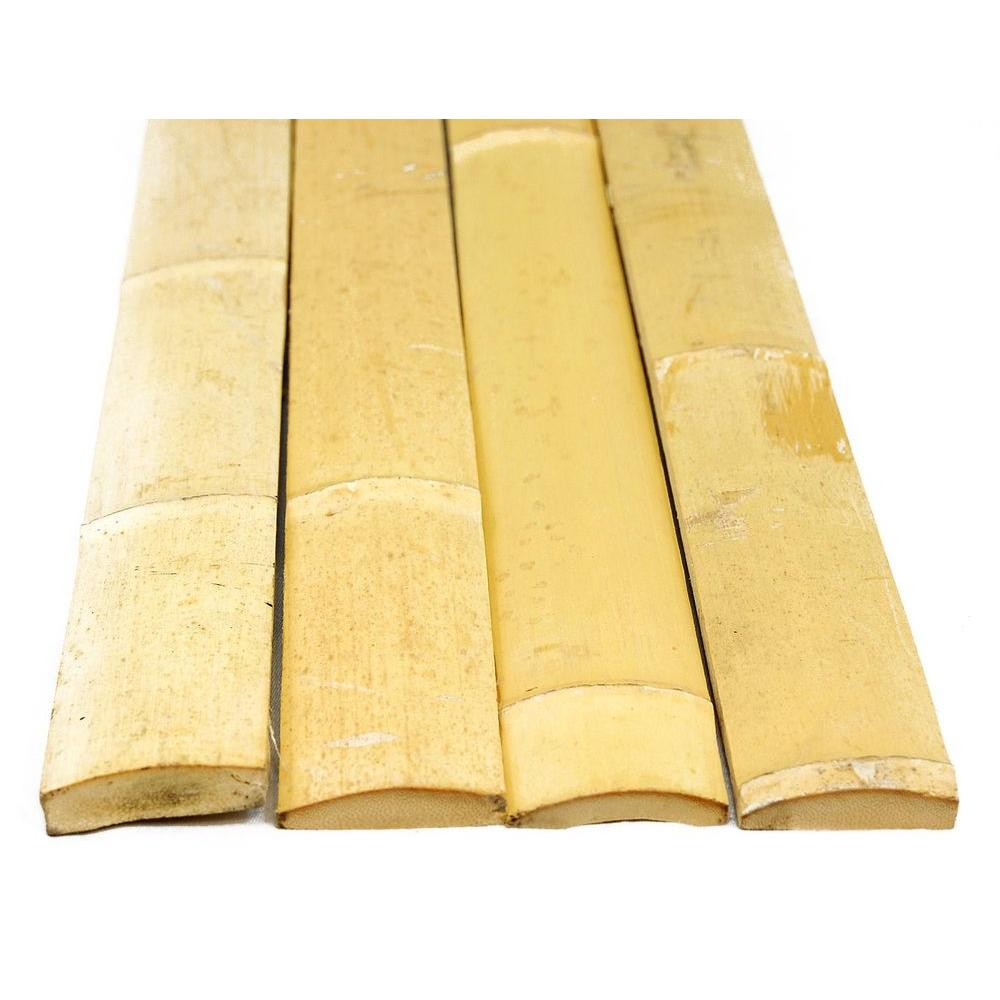 X-Scapes 1.75 in. W x 6 ft. H Natural Bamboo Slats Bundle...