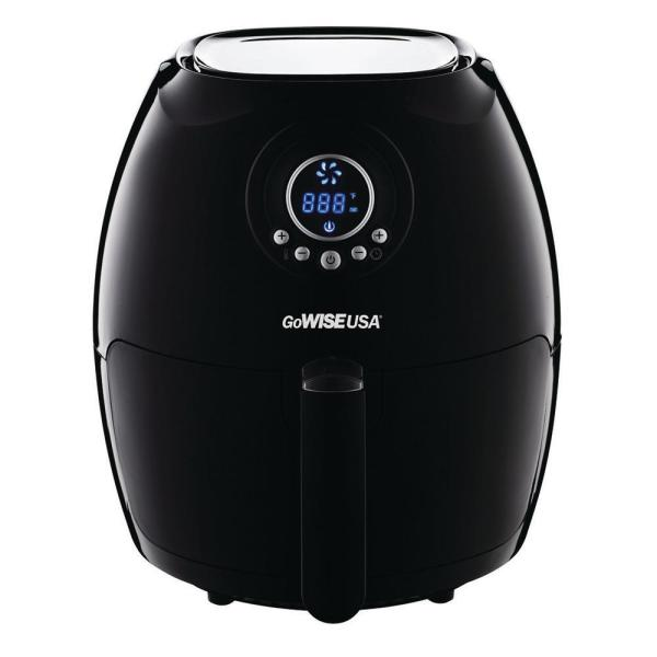 GoWISE USA 2.75-Quart Electric Programmable Air Fryer (Black)