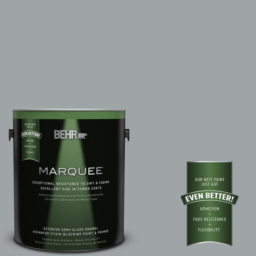 BEHR MARQUEE 1-gal. #MQ5-30 Silent Film Semi-Gloss Enamel Exterior Paint