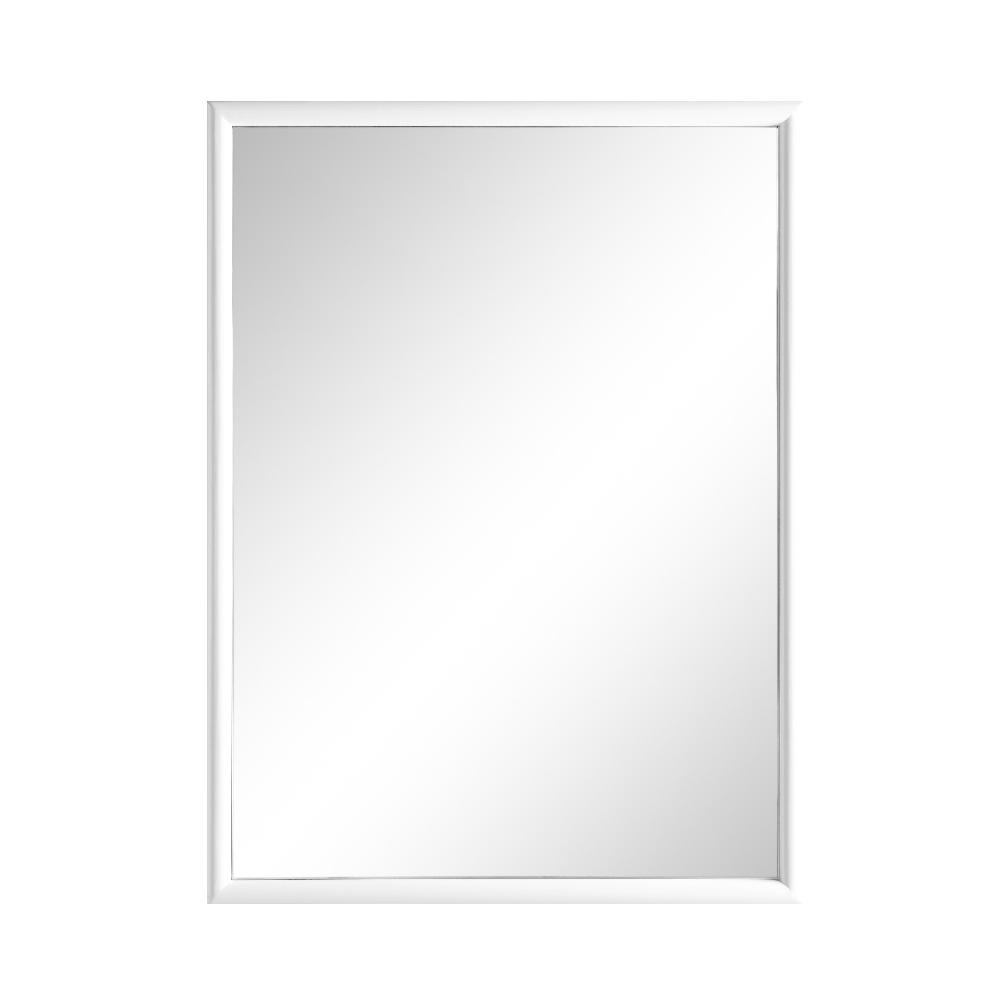 Home Decorators Collection Melpark 24 in. x 32 in. Framed Wall Mirror in White