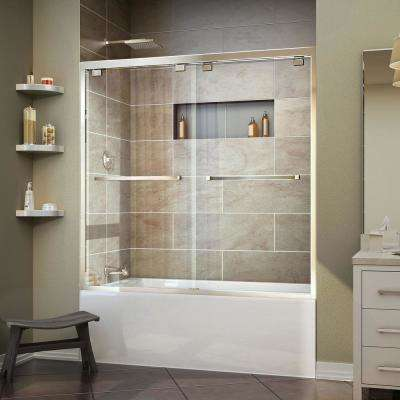 Encore 56 in. to 60 in. x 58 in. Framed Bypass Tub Door in Chrome