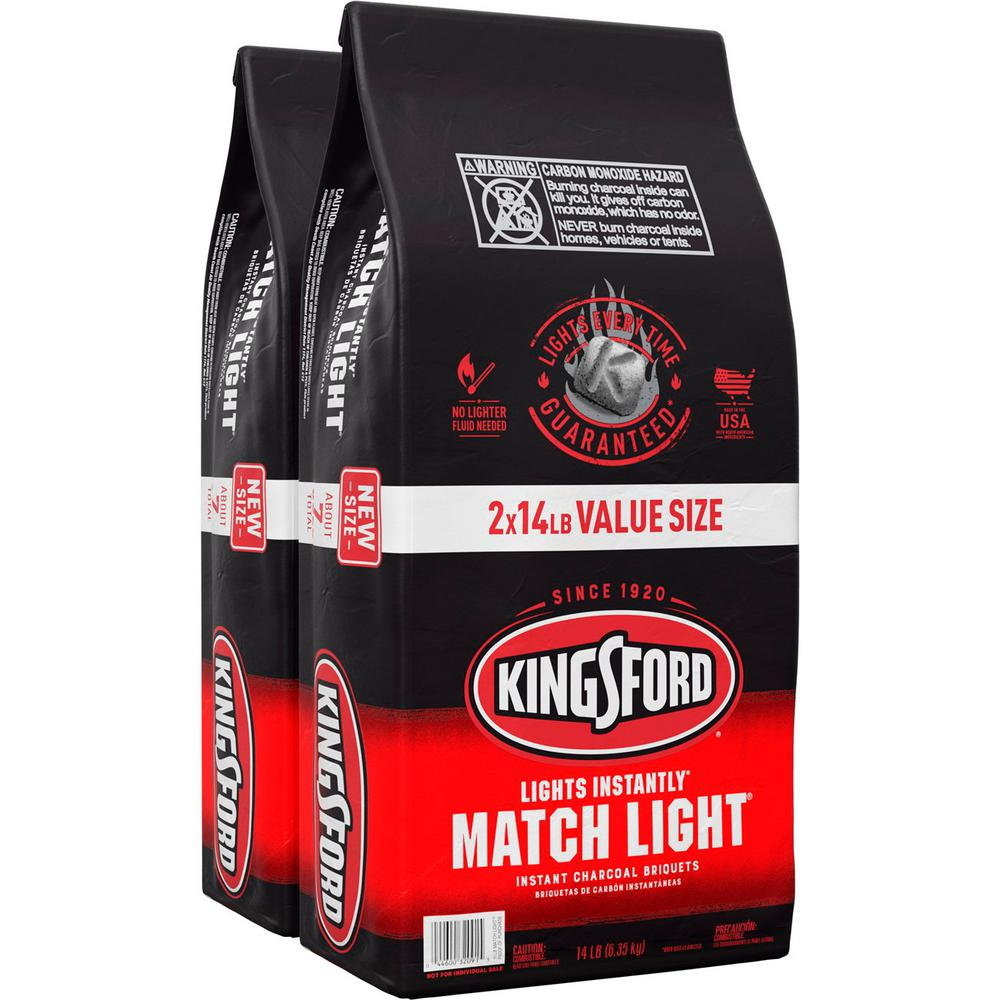 Kingsford 14 lbs. Match Light Instant Charcoal Briquettes (2-Pack)