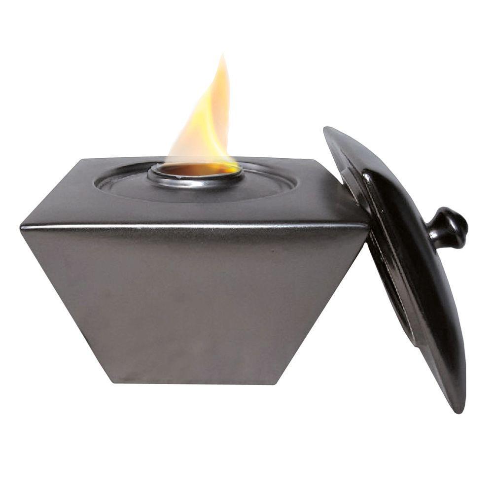 Pacific Decor Taper Fire Pot in Metallic Black-DISCONTINUED