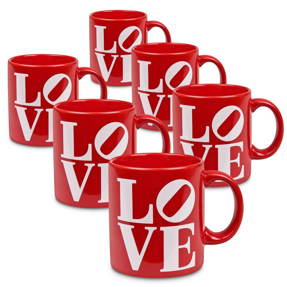 Waechtersbach 6-Piece LOVE Ceramic Mug Set