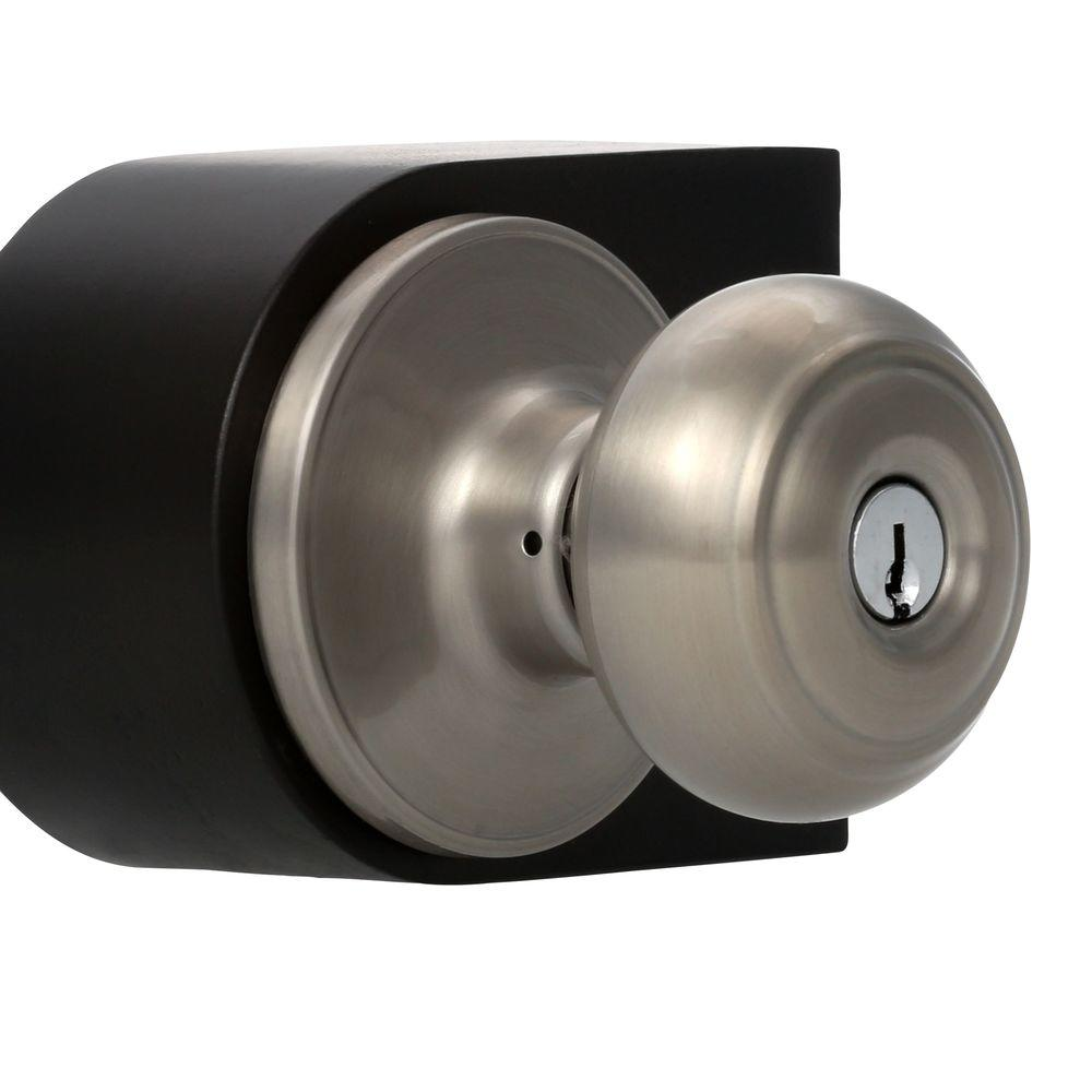 Weslock Elegance Satin Nickel Woodward Keyed Entry Impresa