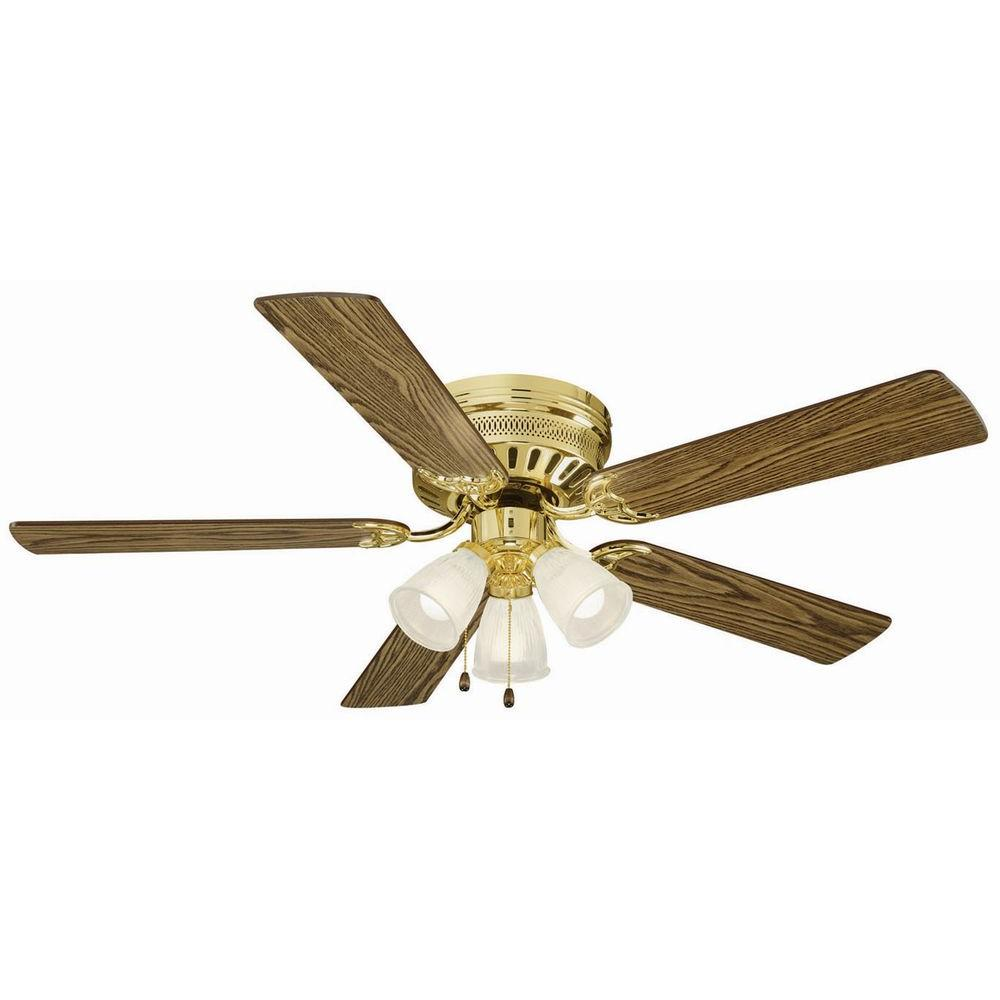 Design House Millbridge 52 In. Polished Brass Hugger Ceiling Fan
