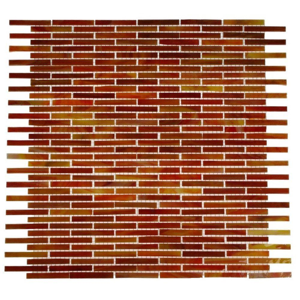Splashback Tile 12 in. x 12 in. x 3 mm Glass Mosaic Floor and Wall Tile