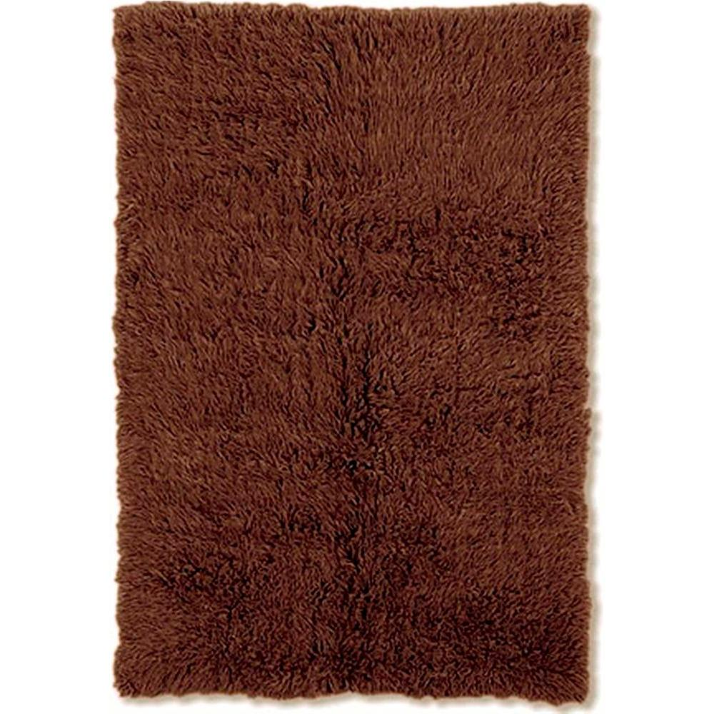 Linon Home Decor 3A Flokati Cocoa 4 ft. x 6 ft. Area Rug