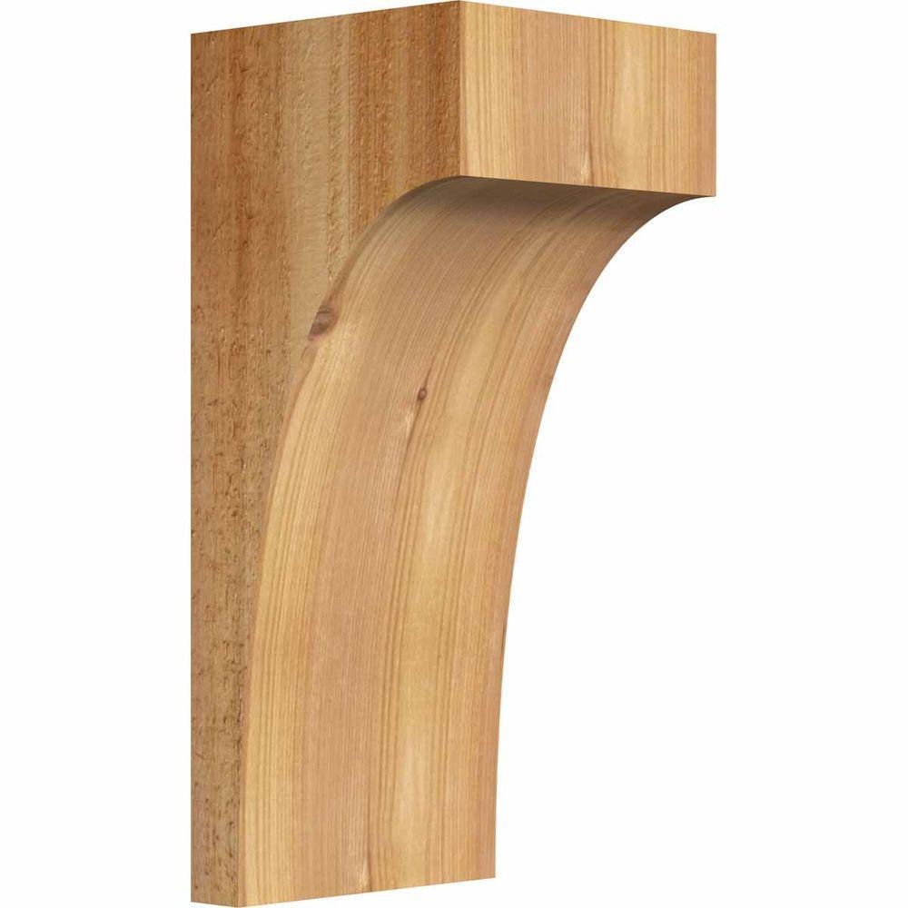 Ekena Millwork 6 In X 6 In X 14 In Western Red Cedar Huntington Rough Sawn Corbel Cor06x06x14hun00rwr The Home Depot