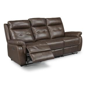 Terrific Homestyles Lux Brown Leather Power Motion Reclining Sofa Alphanode Cool Chair Designs And Ideas Alphanodeonline