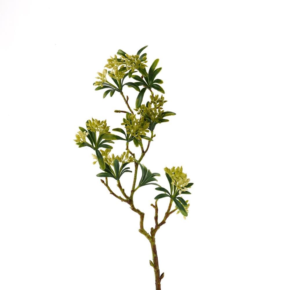 Indoor 21 in. Green Flower Bud Spray (Set of 3)