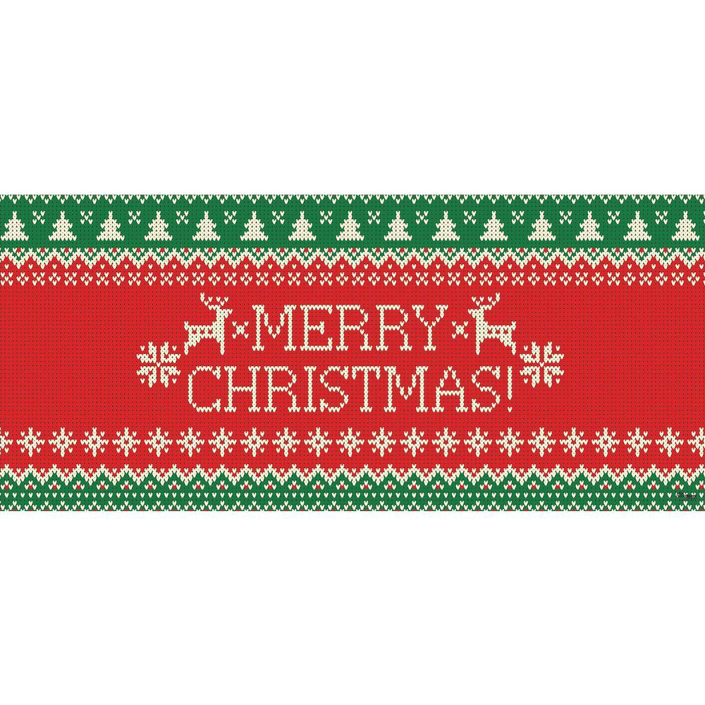 7 ft. x 16 ft. Merry Christmas Ugly Christmas Sweater Christmas Garage Door Decor Mural for Double Car Garage
