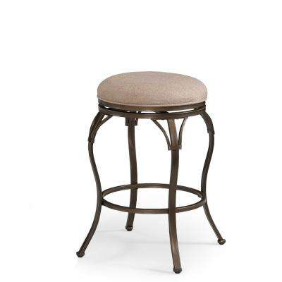Sydney 26 in. Copper Brown Backless Swivel Counter Stool