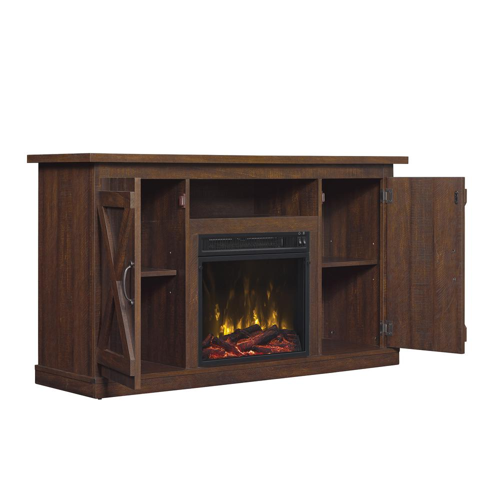 Classic Flame Cottonwood 47 50 In A Console Electric Fireplace Tv Stand Saw Cut Espresso