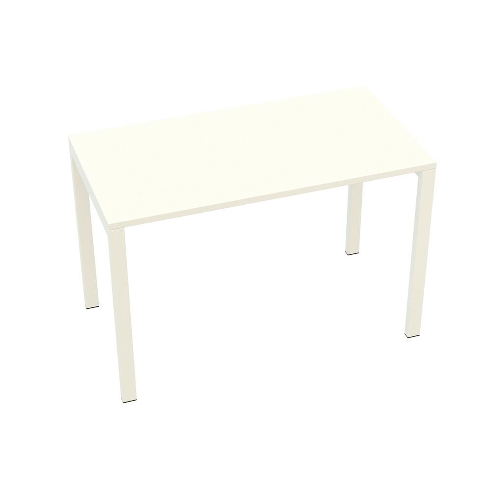 Paperflow Easydesk White 45 In Long Home Office Table