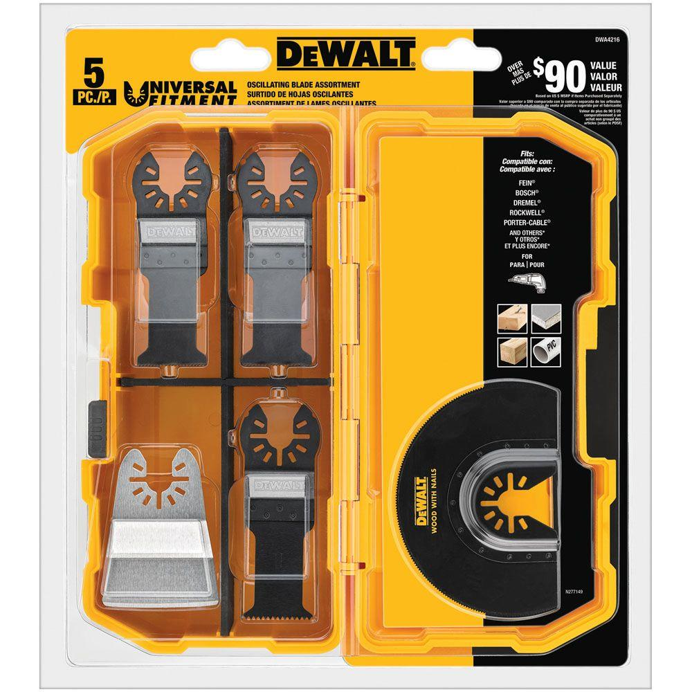 dewalt multi tool blades. dewalt oscillating blade set (5-piece) dewalt multi tool blades home depot