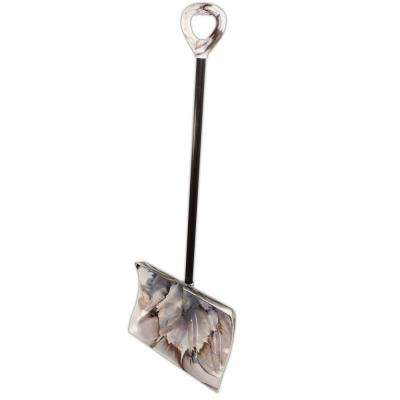 Bigfoot Series 18 in. Poly Combination Snow Shovel in Arctic Camouflage with Steel Core Handle