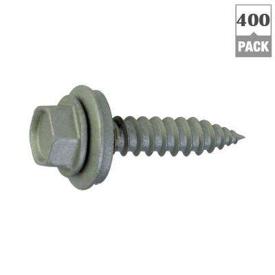 #9 x 1-1/2 in. Hex-Head Roofing Screws (400-Pack)