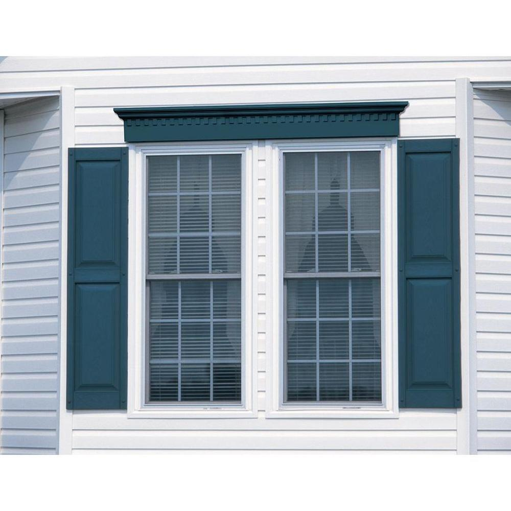 15 x 55 exterior shutters raised panel vinyl pair black - Exterior wooden shutters for windows ...