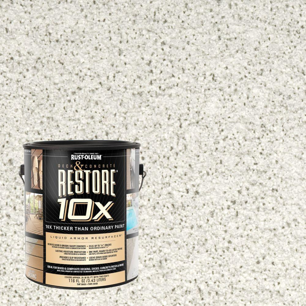 Rust-Oleum Restore 1-gal. White Deck and Concrete 10X Resurfacer