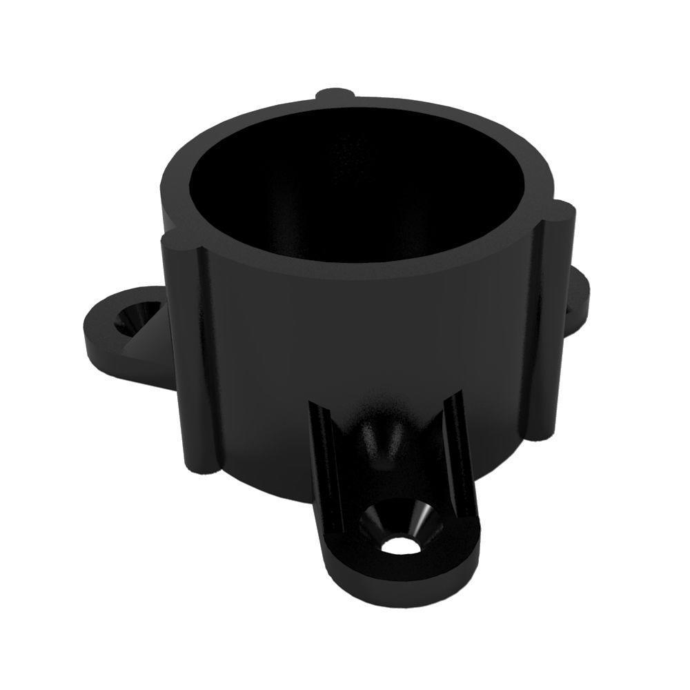 Formufit 2 in. Furniture Grade PVC Table Screw Cap in Black-DISCONTINUED