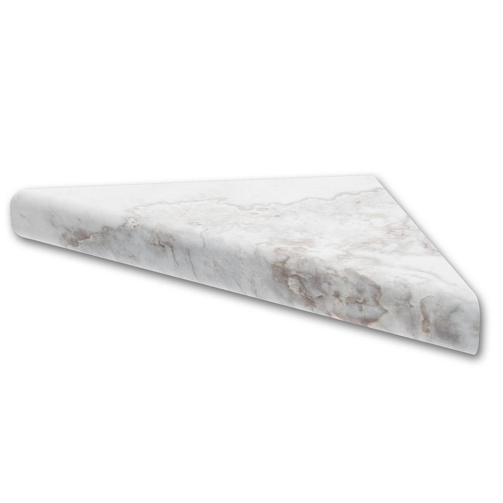FlexStone 15 In. Corner Shelf Niche In Calypso-FLXCSB15CP