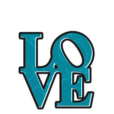 19 in. x 27 in. Love Wall Decal