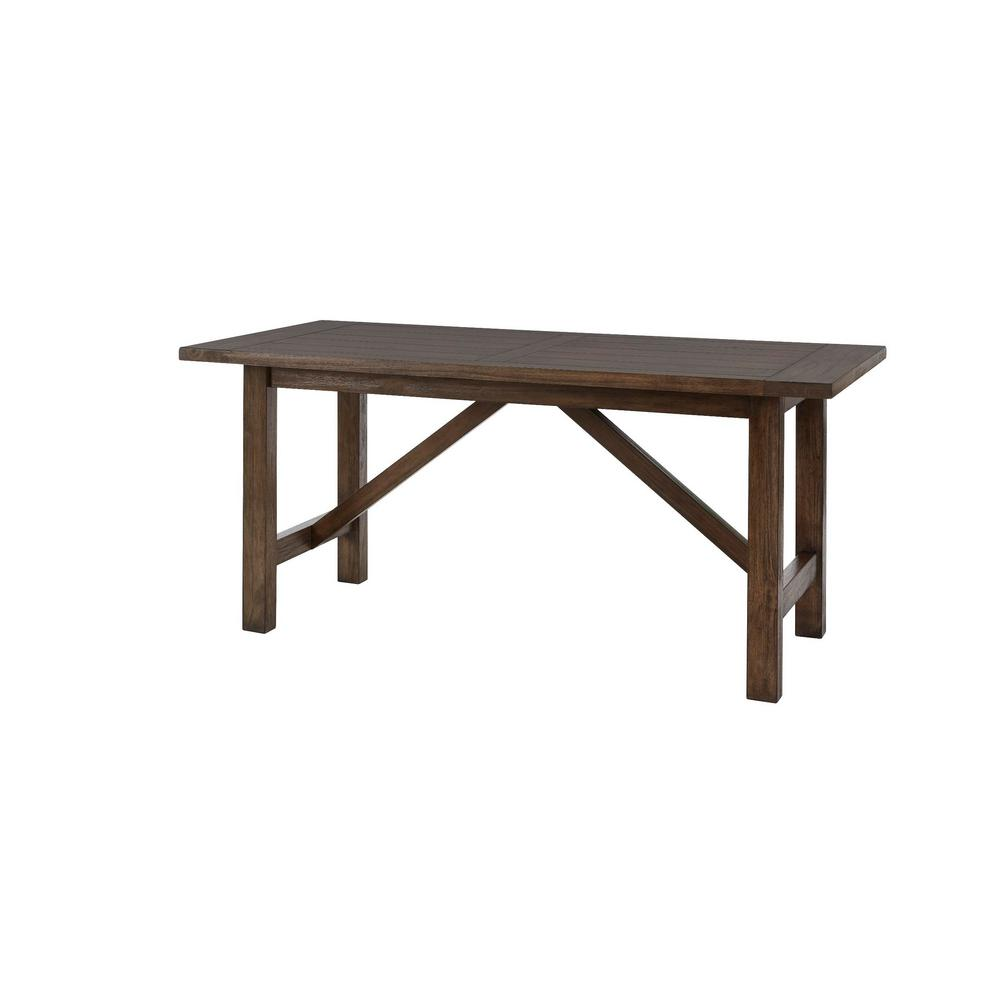 HomeDecoratorsCollection Home Decorators Collection Plum Hill Smoke Brown Wood Rectangular Dining Table for 6 (66 in. L x 30 in. H), Grey