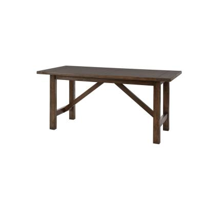 Plum Hill Smoke Brown Wood Rectangular Dining Table for 6 (66 in. L x 30 in. H)