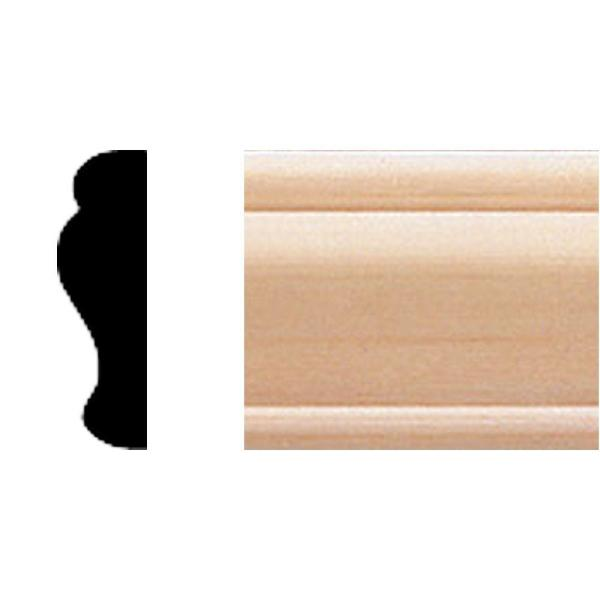3/8 in. x 1-1/4 in. x 8 ft. Basswood Panel Moulding