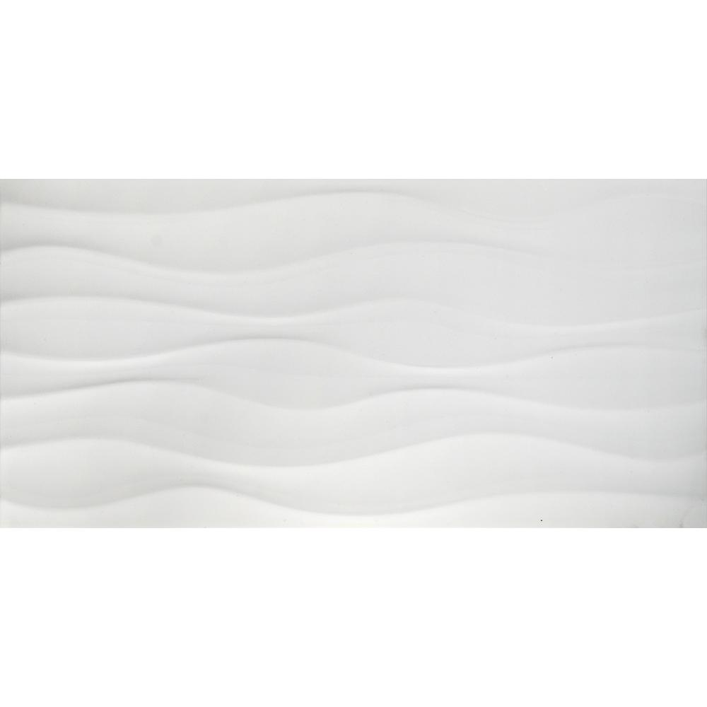 Onda Blanco 12 in. x 24 in. Glazed Porcelain Floor and