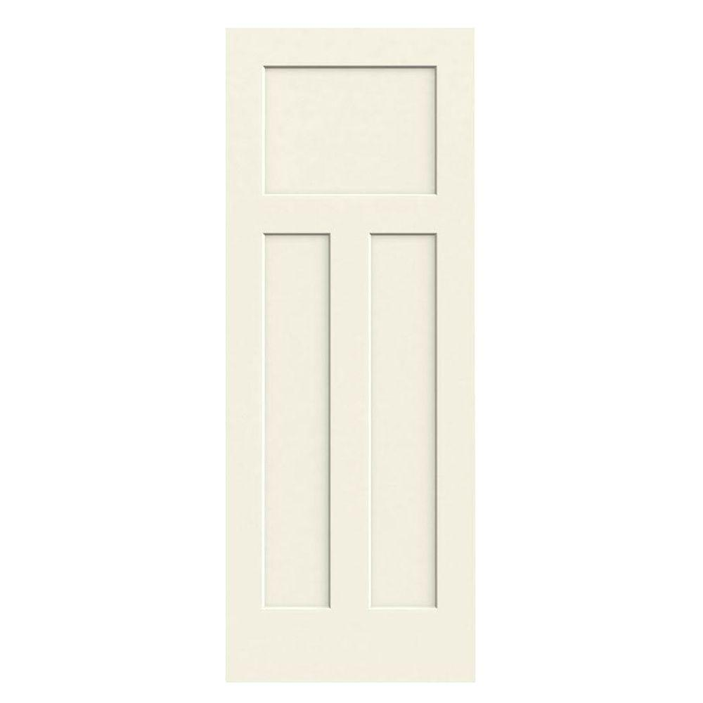 30 in. x 80 in. Craftsman Vanilla Painted Smooth Solid Core