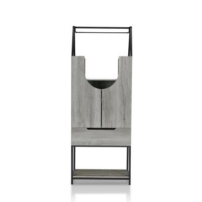 Reon 7-Bottle Vintage Gray Wine Cabinet